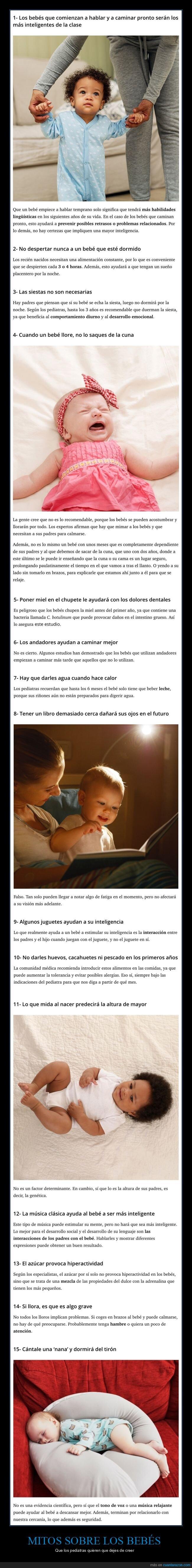 bebés,curiosidades,mitos