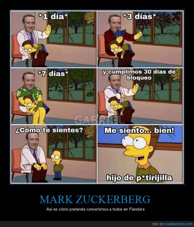 bloqueo,facebook,flanders,mark zuckerberg,simpsons