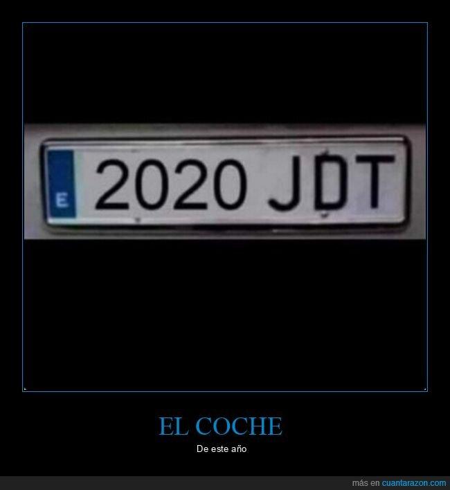 2020,coche,matrícula