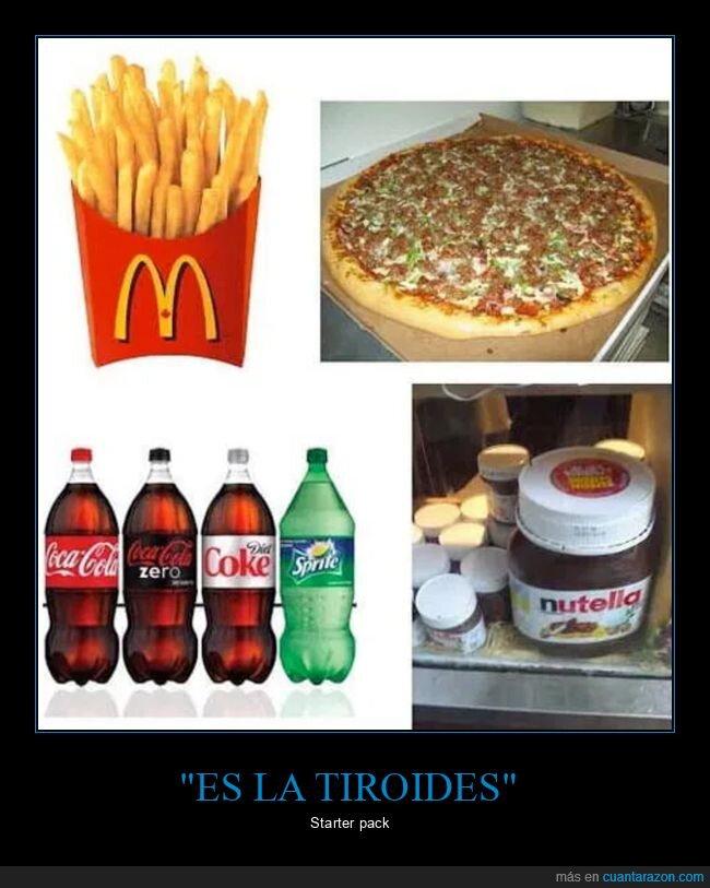 comida,gordo,starter pack,tiroides