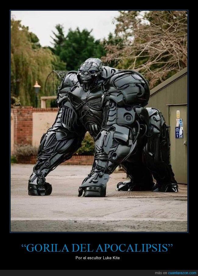 escultura,gorila