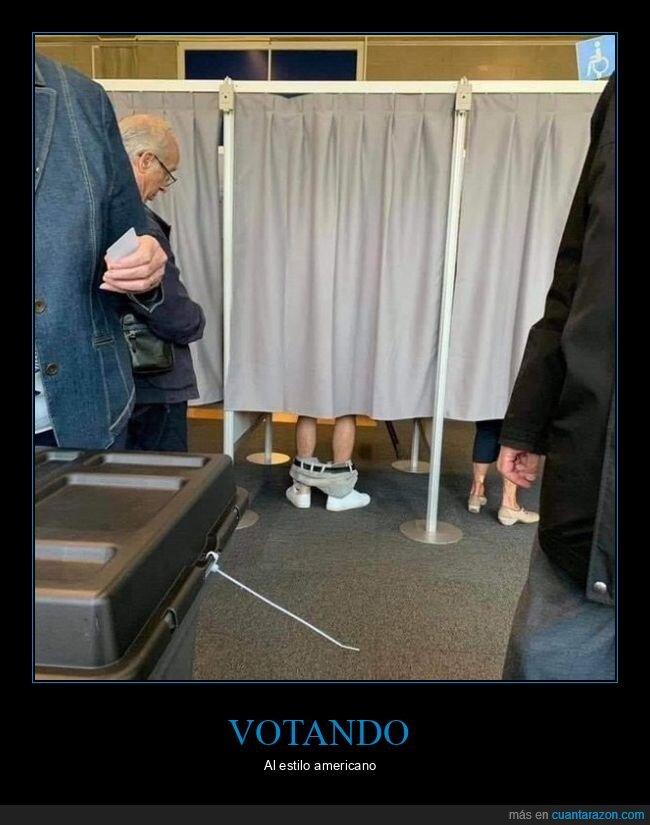 elecciones,pantalones,votando,wtf