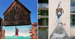 Enlace a El artista callejero cuyos grafitis cambian los espacios donde los pinta