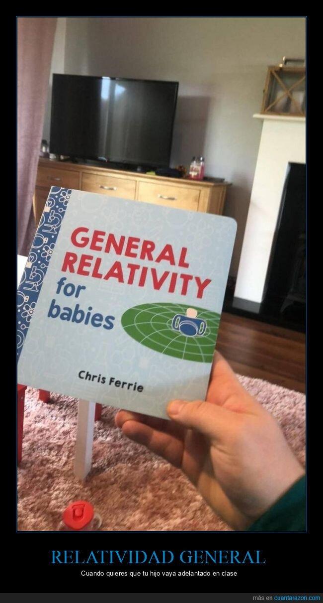 bebés,libro,relatividad general
