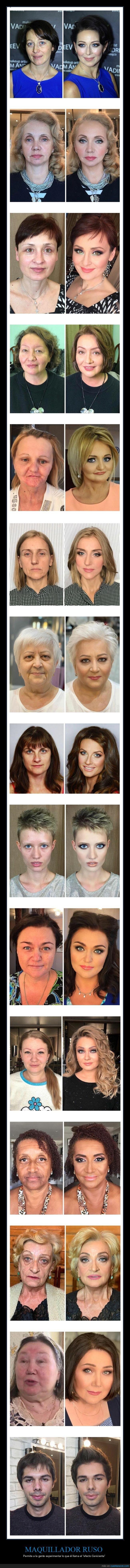 antes,después,maquillaje