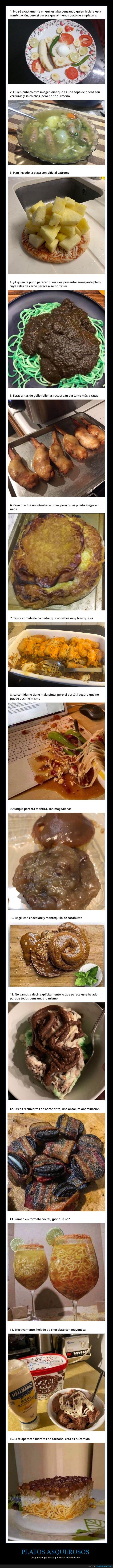 asco,comida,platos