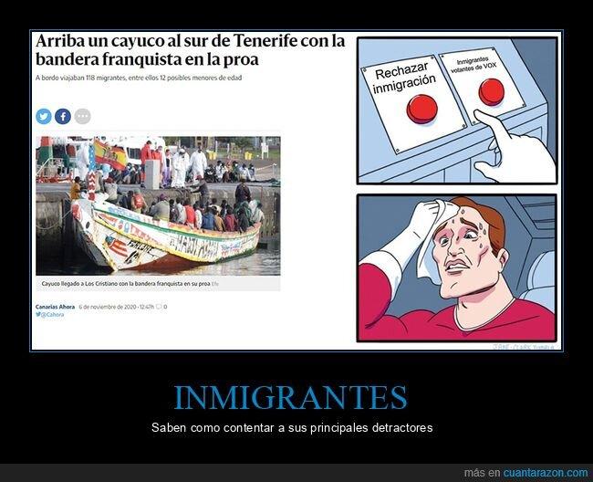 bandera,franquista,inmigrantes,políticos,vox