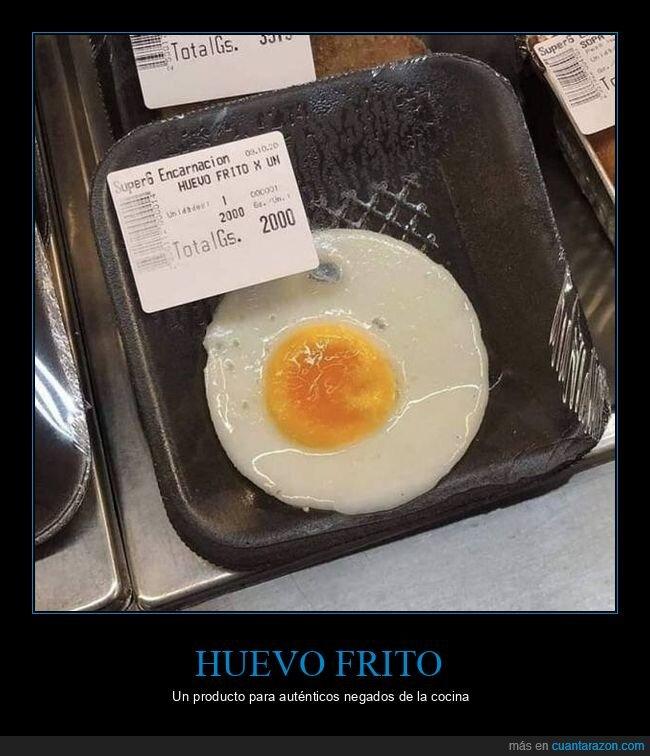 huevo frito,supermercado,wtf