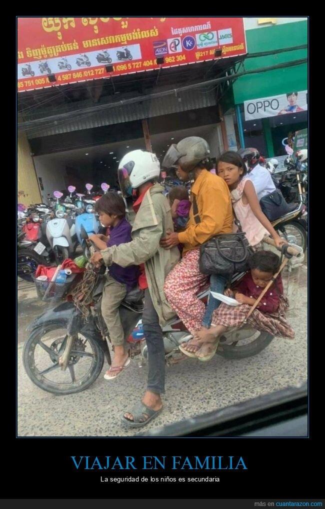 familia,moto,niños,wtf