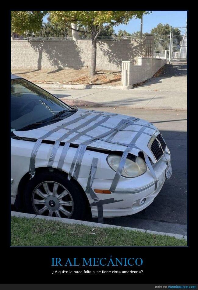 capó,cinta americana,coche