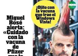 Enlace a las advertencias de Miguel Bosé