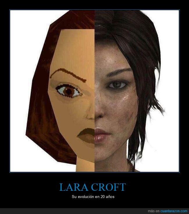 20 años,evolución,lara croft