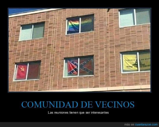 banderas,ventanas