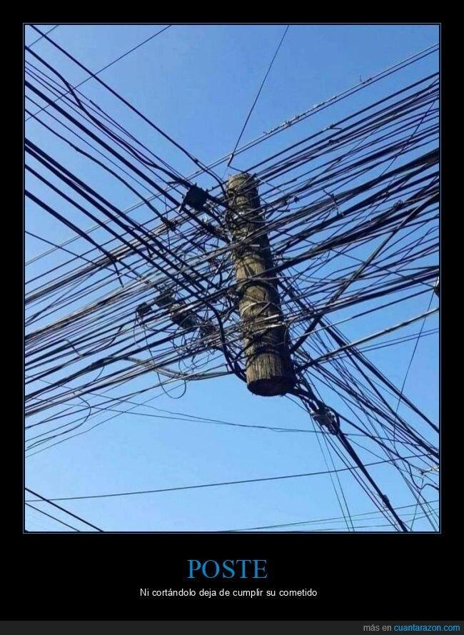 cables,cortado,poste,wtf