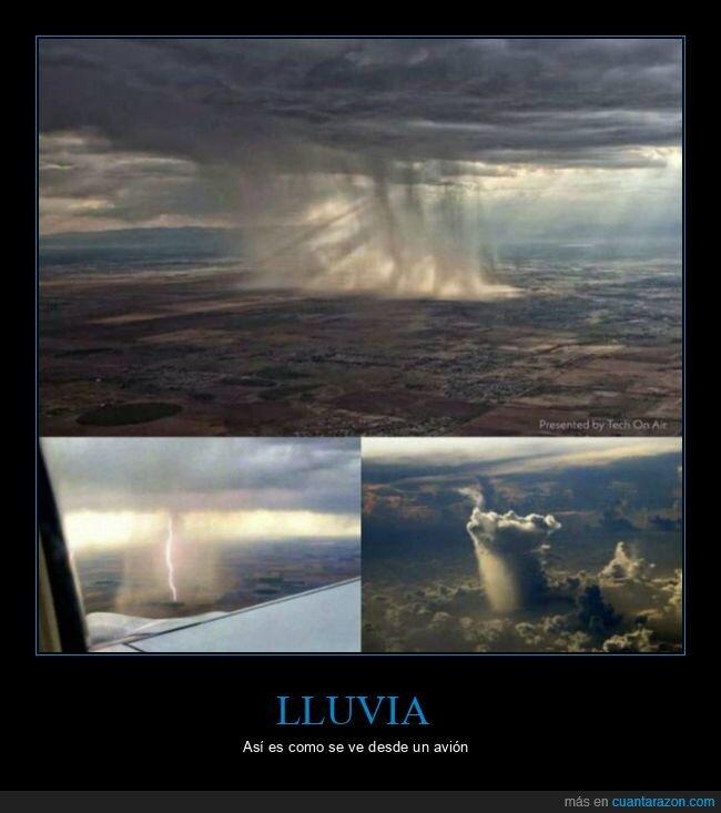 avión,lluvia
