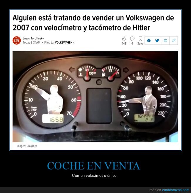 coches,hitler,velocímetro,wtf