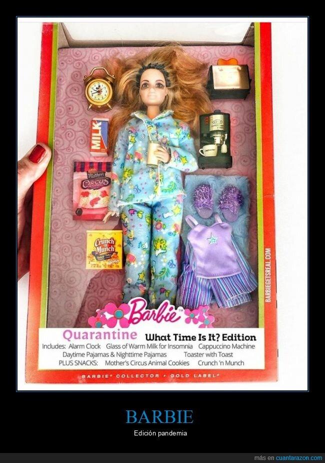 barbie,coronavirus,cuarentena,pandemia