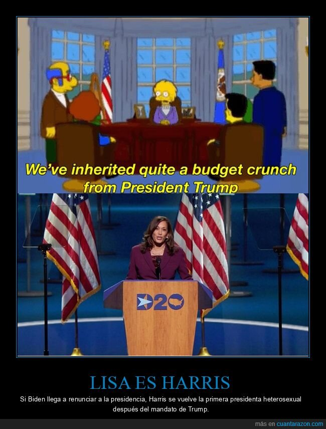 bidem,kamala harris,lisa,políticos,simpsons