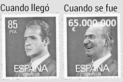 Enlace a El Rey Juan Carlos antes vs después