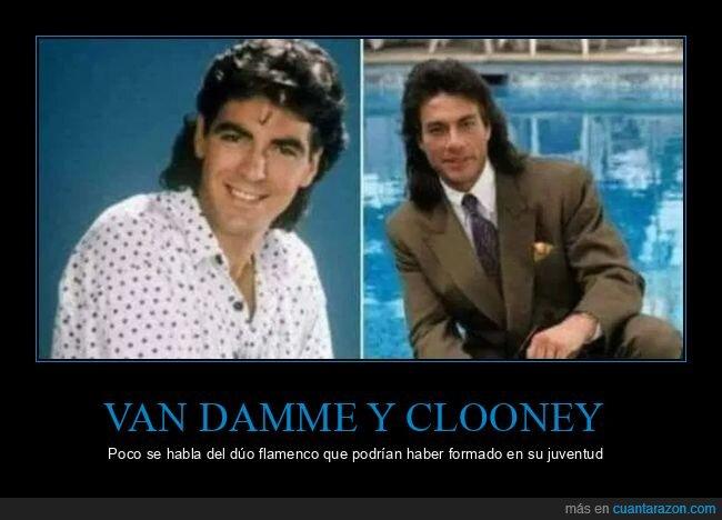 dúo flamenco,george clooney,jean claude van damme,peinados