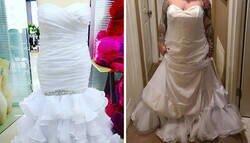 """Enlace a Esta novia se quejó porque su vestido de boda """"no se parecía en nada al que encargó"""" y resulta que lo llevaba al revés"""