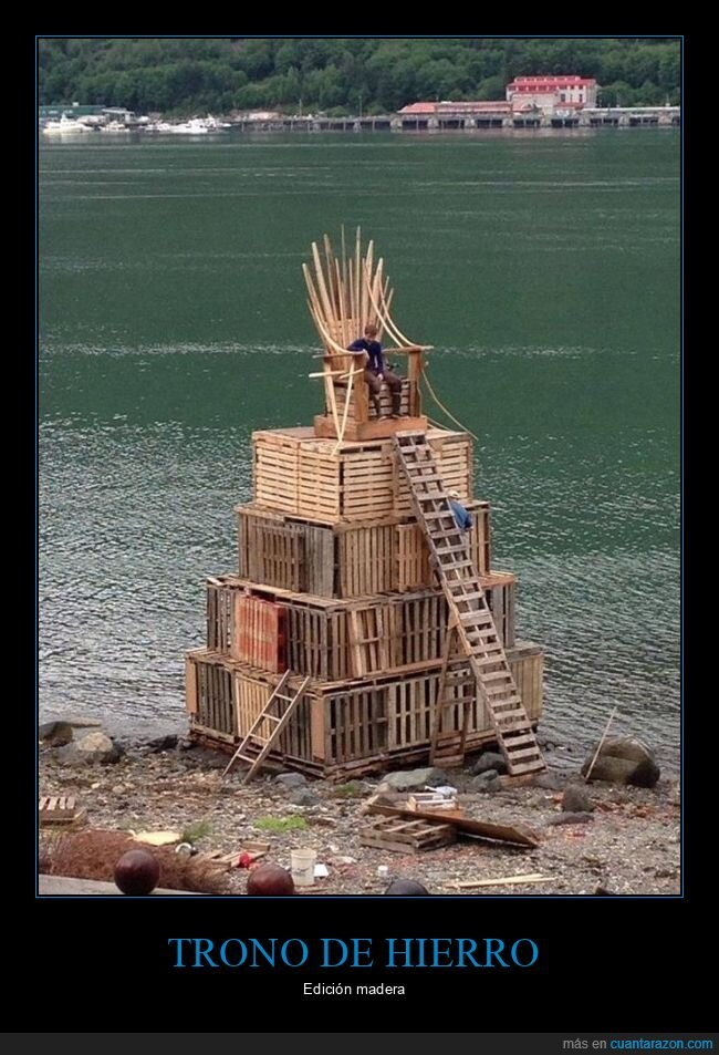 juego de tronos,madera,trono de hierro