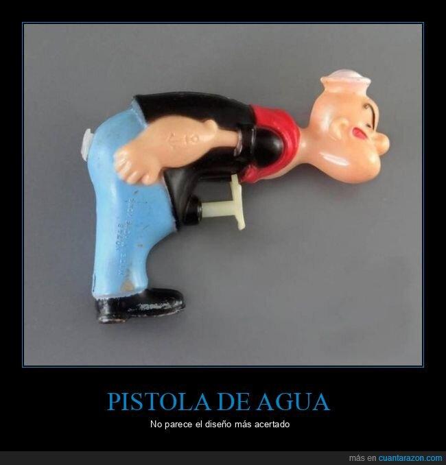 fails,pistola de agua,popeye