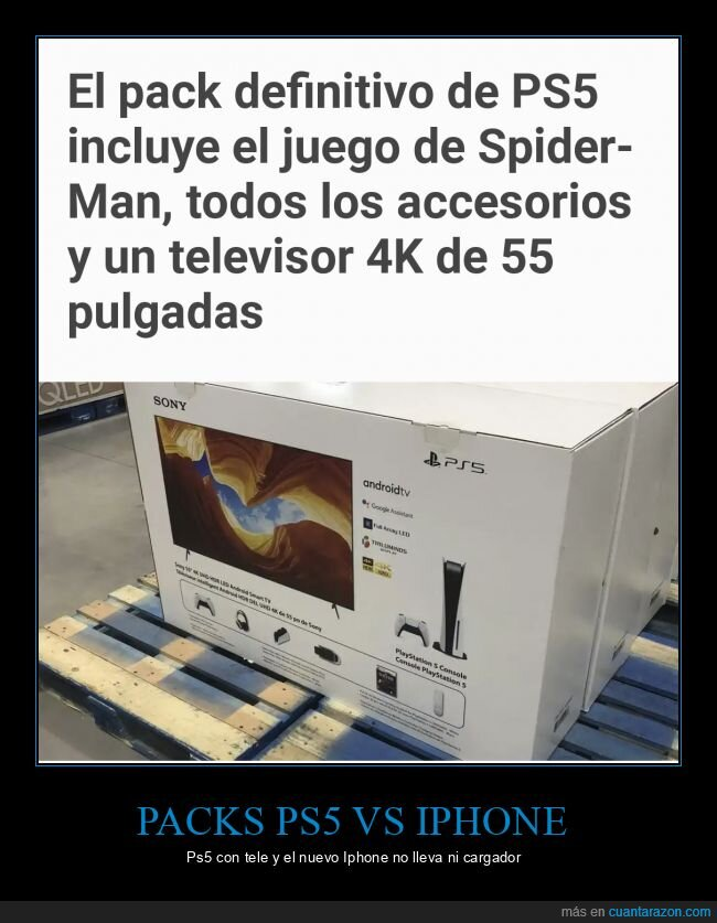 iphone,packs,ps5,televisor