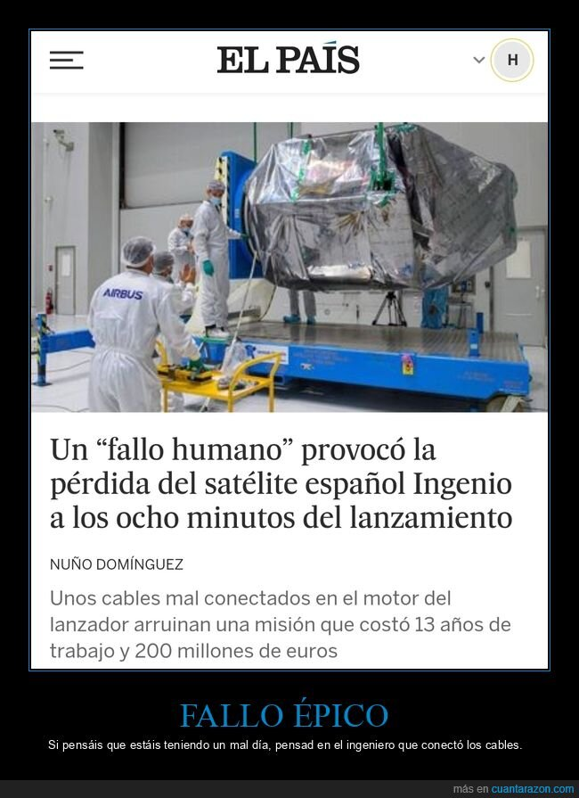 fails,satélite
