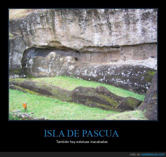 estatuas,inacabadas,isla de pascua