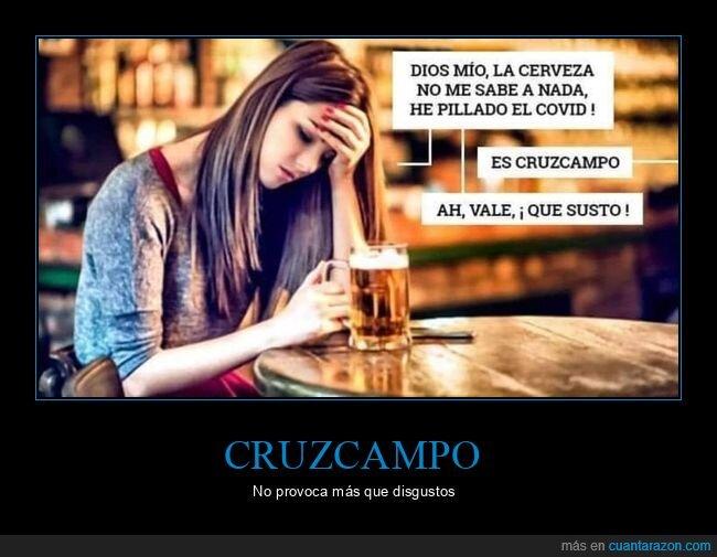 cerveza,coronavirus,cruzcampo,sabor