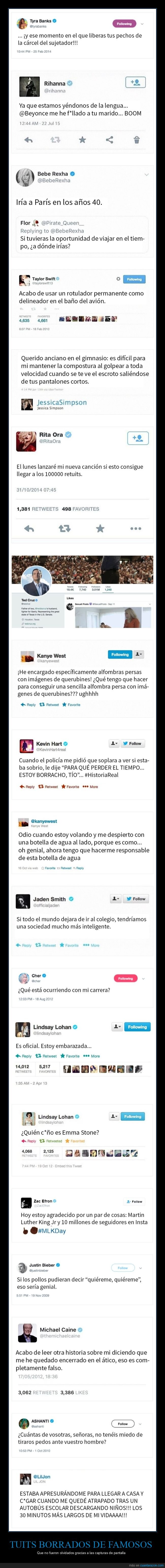 capturas de pantalla,famosos,tweets borrados