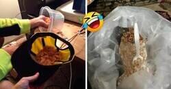 Enlace a Personas perezosas que hicieron el mínimo esfuerzo para preparar su comida