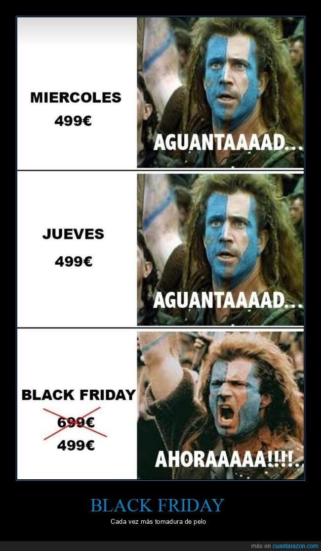 black friday,braveheart,precios
