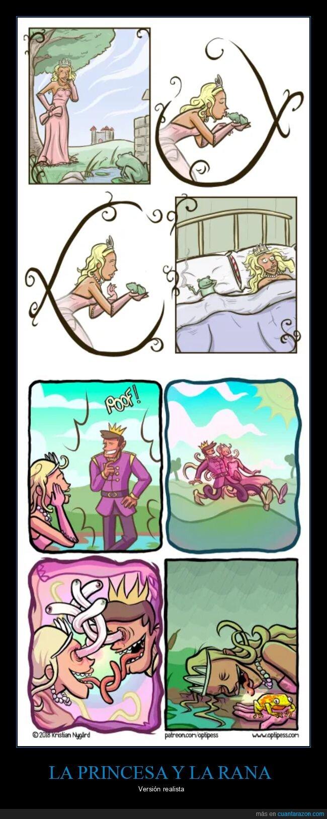 colocada,princesa,rana