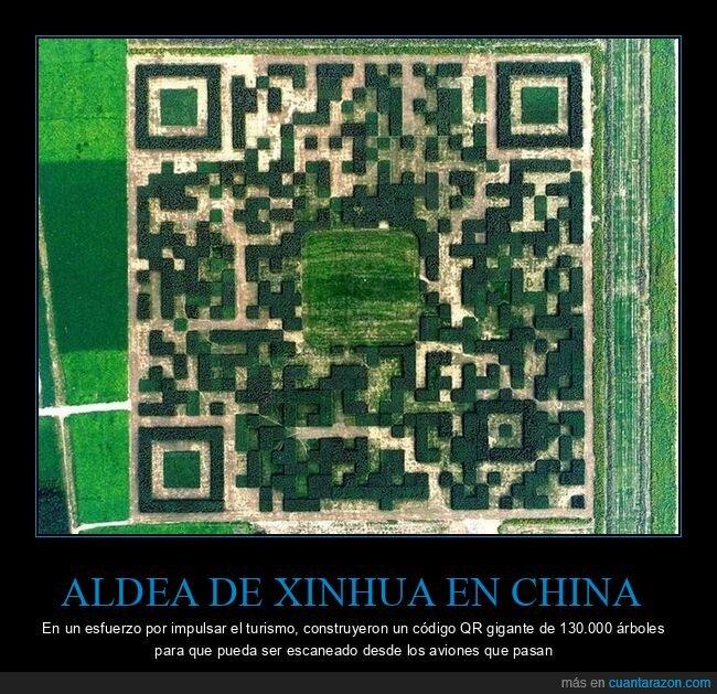 aldea,árboles,china,código qr,turismo,xinhua