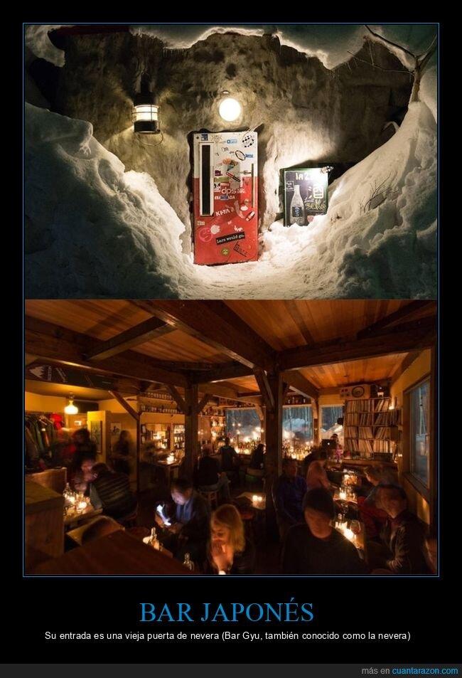 bar,japón,nevera,puerta
