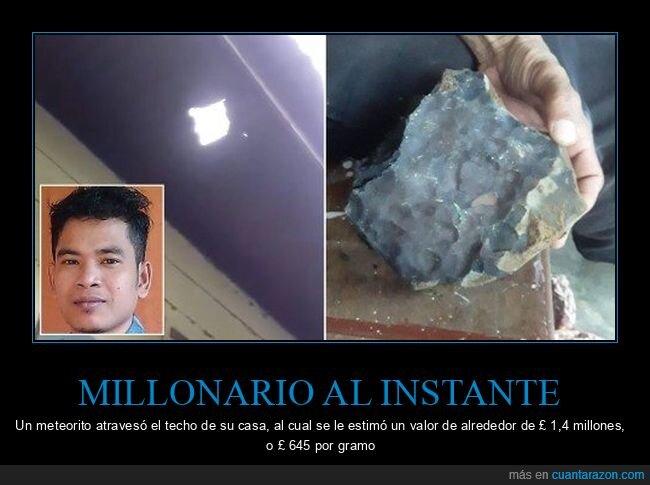 casa,meteorito,millonario