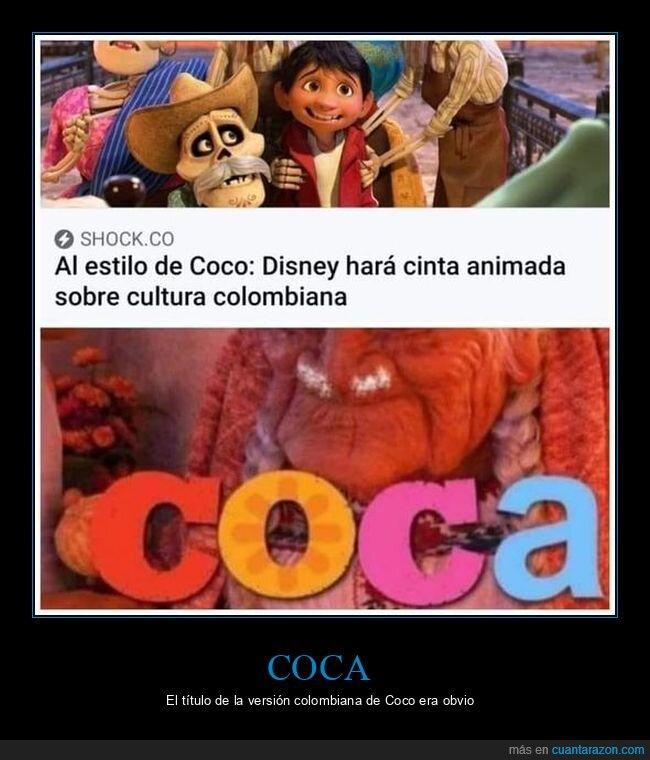 coca,coco,colombia,disney