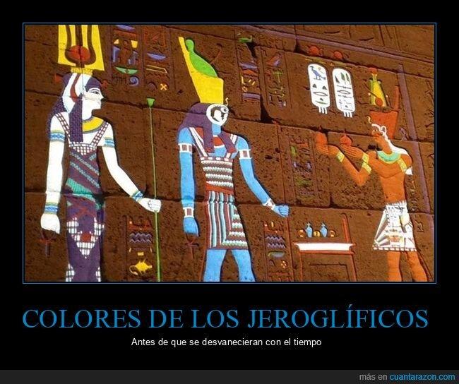 colores,egipto,jeroglíficos