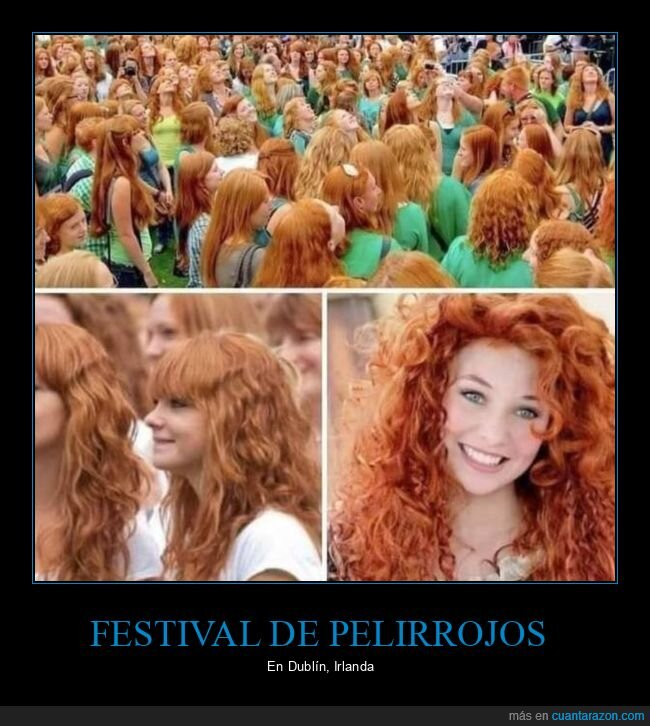 dublín,festival,pelirrojos