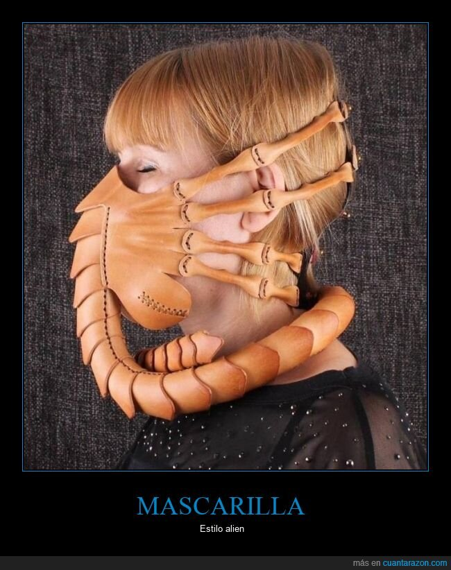 alien,facehugger,mascarilla