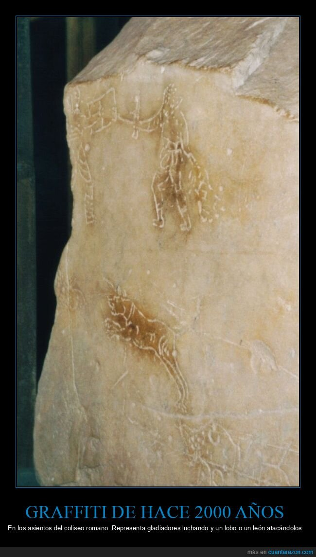 2000 años,coliseo romano,graffiti