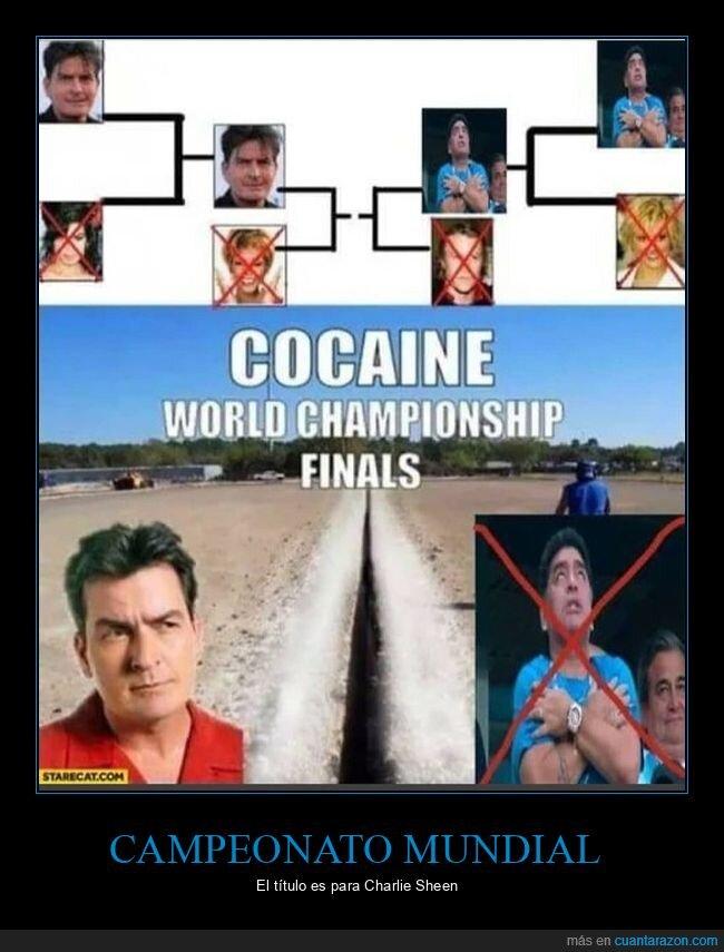 campeonato,charlie sheen,coca,maradona