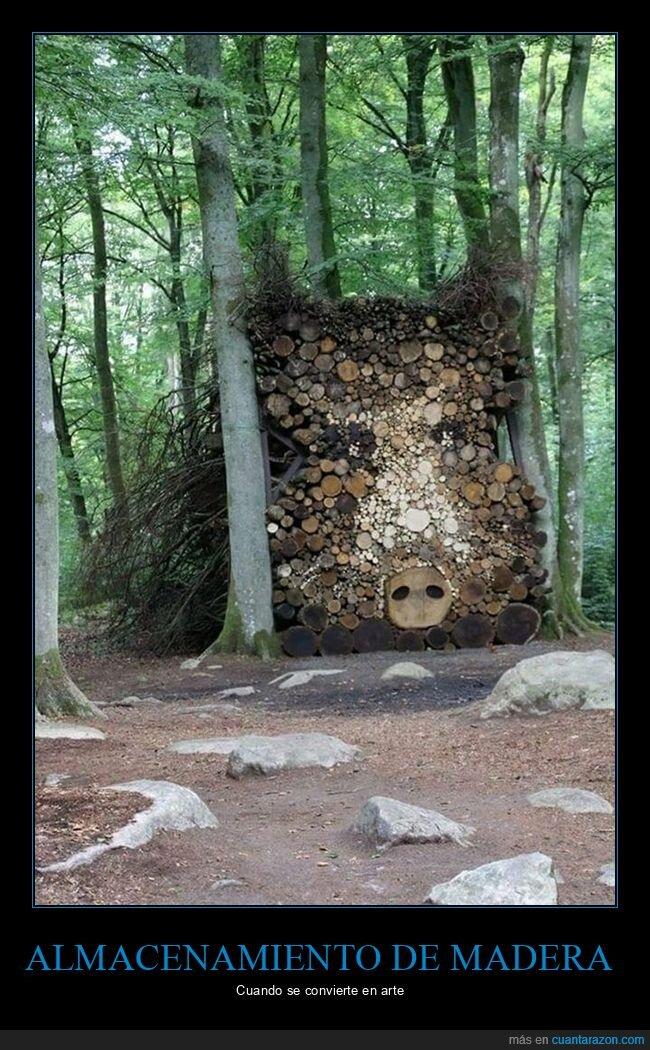 arte,madera,troncos