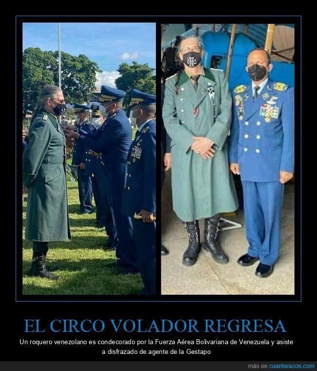 condecorado,disfraz,fuerza aérea,gestapo,roquero
