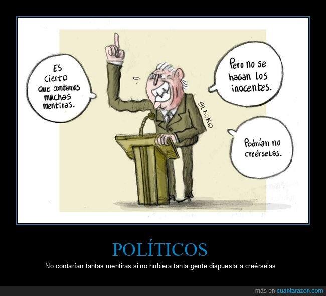 creer,mentiras,políticos