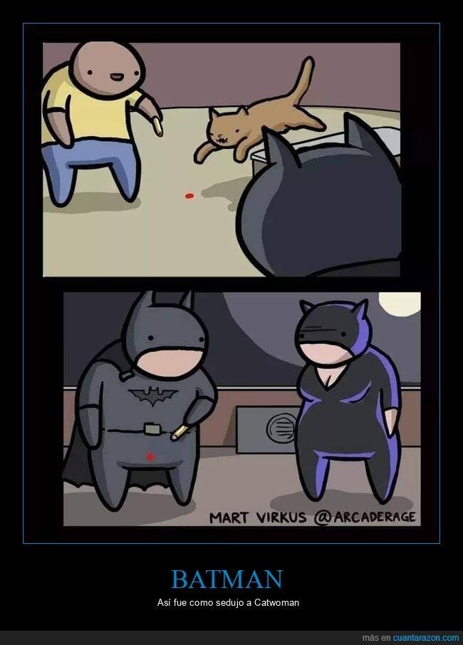 batman,catwoman,láser