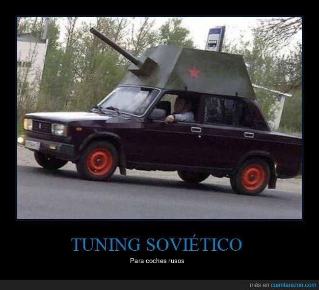 coche,rusos,tanque,tuning
