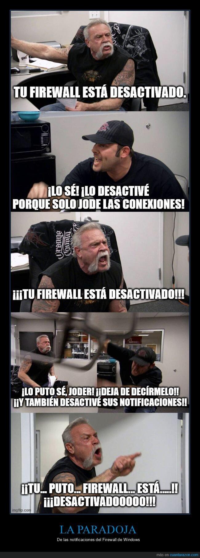 firewall,paradoja,windows